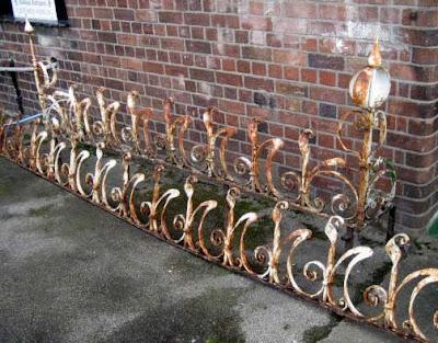 cast iron railings north wales antiques