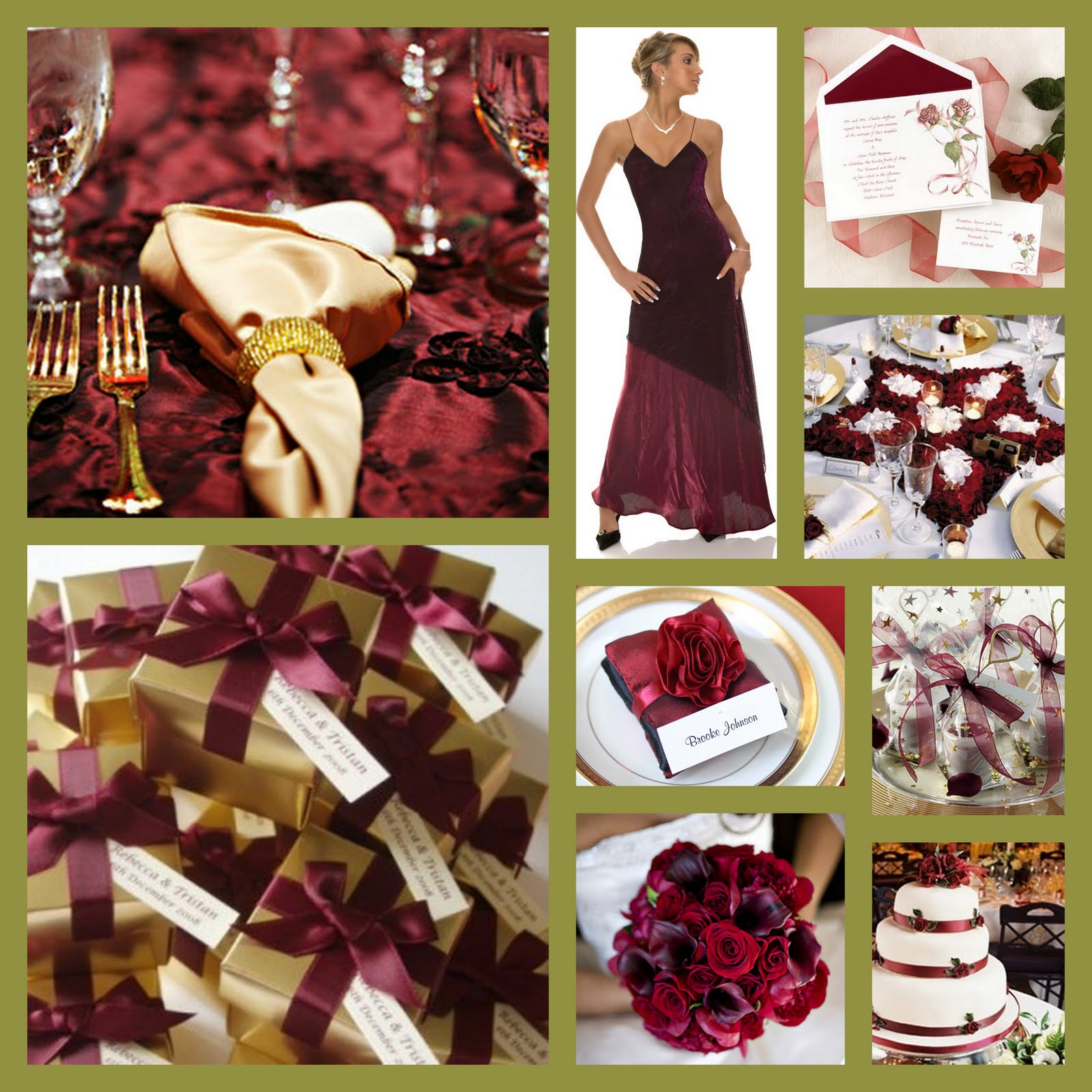 Premier Bride Magazine: Texas: Wedding Theme: Burgundy And