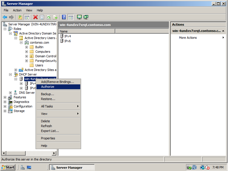 Network World: Troubleshooting:(Windows sever 2008) DHCP server