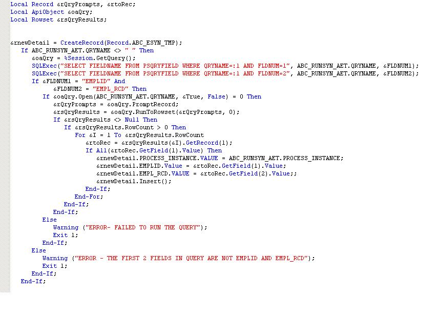 peoplecode rowset select method of range - FREE ONLINE