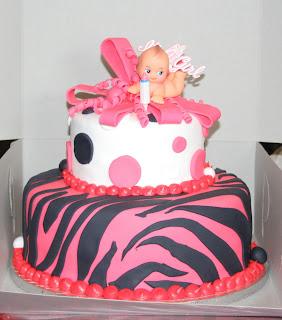Hector's Custom Cakes: ZEBRA BABY SHOWER GIRL
