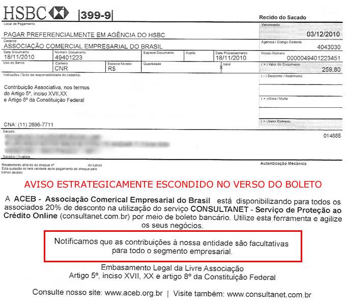 84f07669def Golpe do boleto  Associação Comercial Empresarial do Brasil