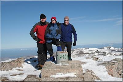 Castro Valnera mendiaren gailurra 1.718 m. - 2009ko otsailaren 15ean