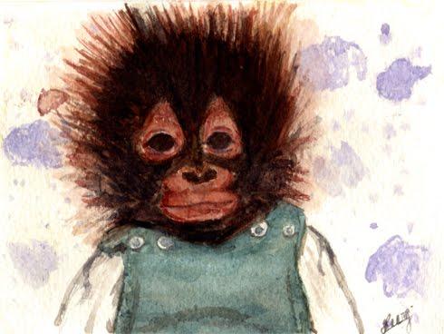 Paillettes et poussi res petit singe - Petit singe rigolo ...