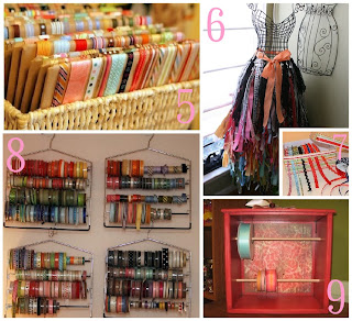 This crafty gal has all kinds of great storage ideas! Be sure and check out the rest of her st& studio on her blog! & Creative Ribbon Storage Ideas - The Scrap Shoppe
