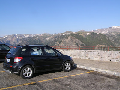 Suzuki SX4 at Bear Tooth Pass - Subcompact Culture