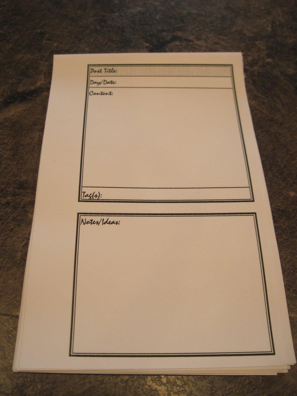 Simply Savvy Blog Planning Notebook Tutorial Amp Printable