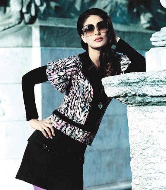 Celebrities Collection: Kareena Globus Winter 2008 Shots