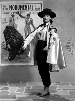 Natalie Wood dressed as a bull fighter
