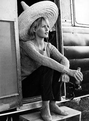 Brigitte Bardot in a sombrero