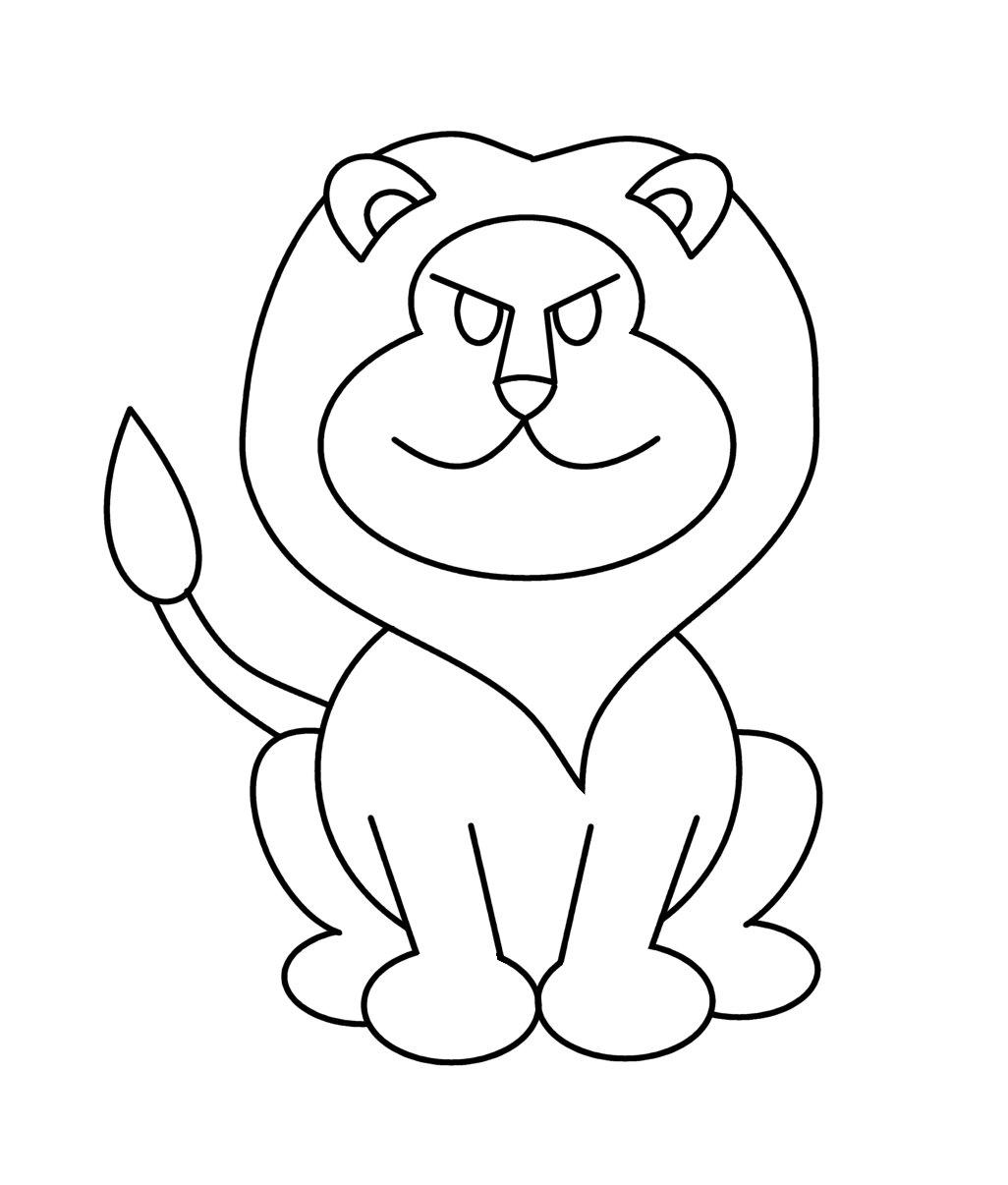 lion cartoon drawings wallpaper - photo #18