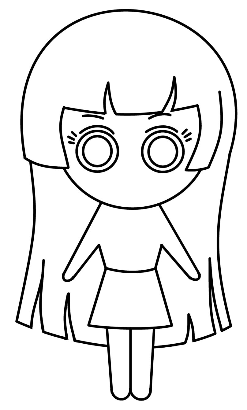 How To Draw Cartoons  Chibi Girl