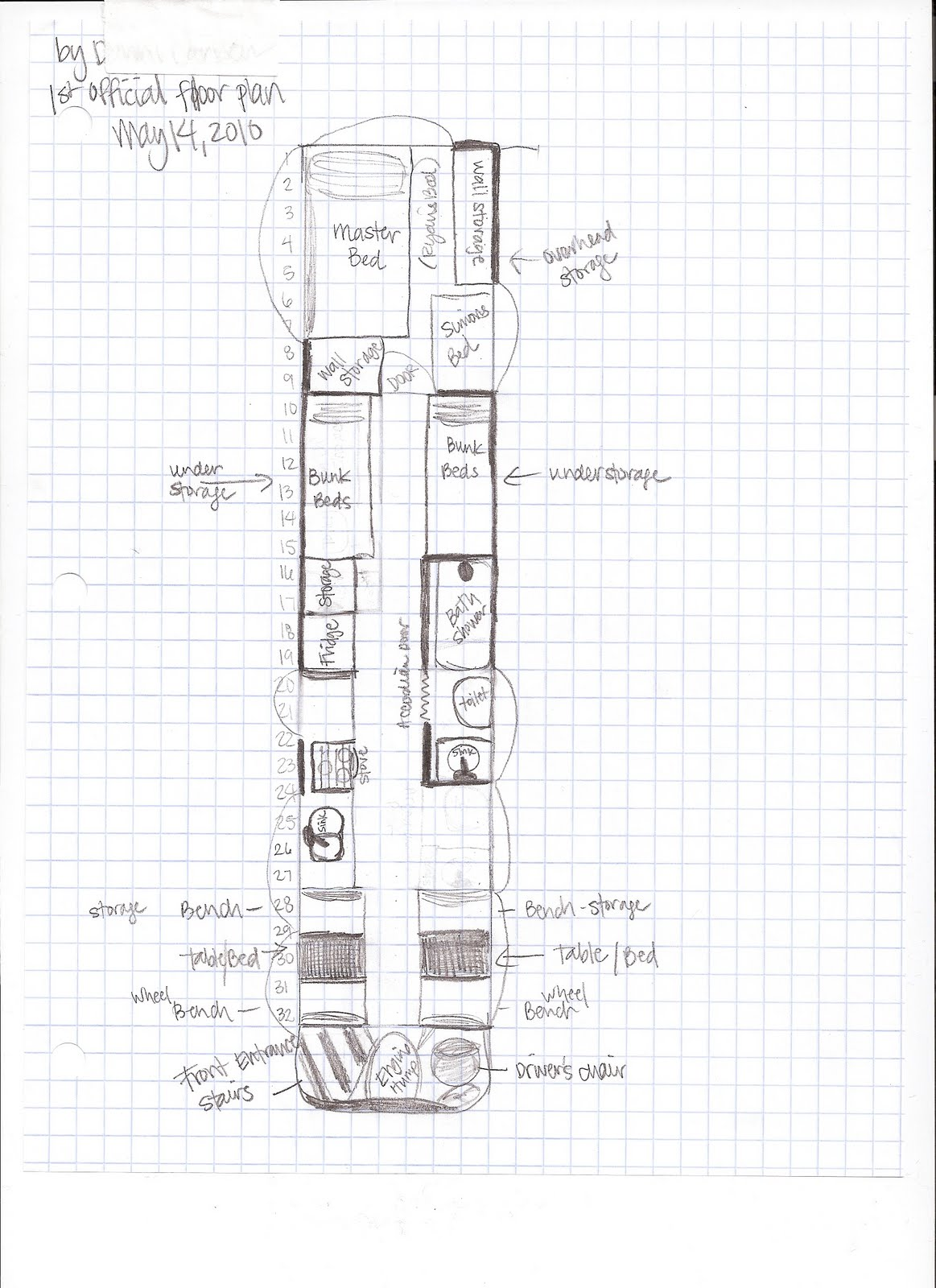 Bus Conversion Floor Plans Unique House Plans