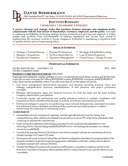 Doc612792 Sample Resume Ceo Example Executive or CEO 97