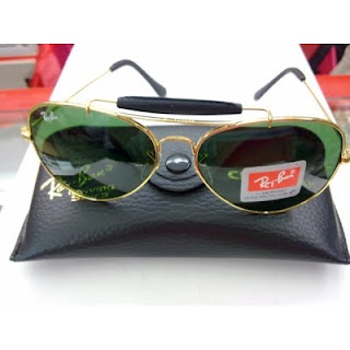 86b8773040083 New Ray Ban RB3422Q Gold Green Leather (L)