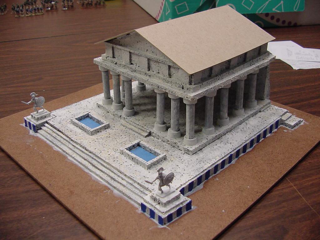 Din Of Battle Making A 15mm Greek Temple