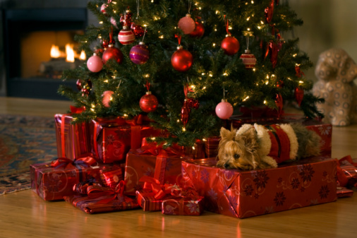 christmas tree with presents - photo #31