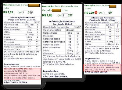 rotulagens+2+suco Rotulagem Nutricional