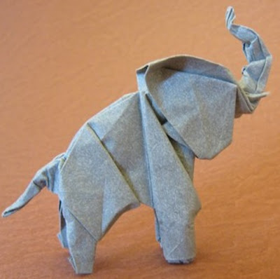 Elephants (Lionel Albertino) in 2020 | Origami katze, Origami ... | 398x400