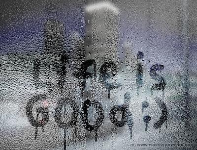 Эффект надписи на запотевшем окне в Фотошопе.