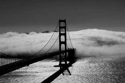 Чёрно-белые фото мостов.