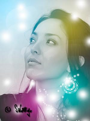 Световые и цветовые эффекты в Фотошоп.Постер.