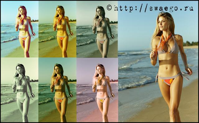 Скачать бесплатно 12 красивых Photoshop Actions.Колоризация.