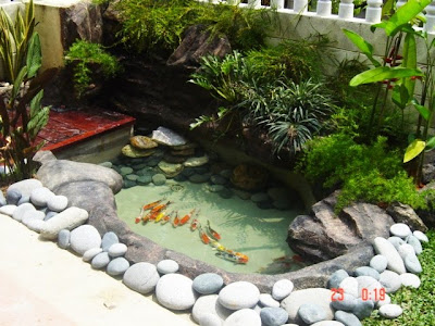 Perniagaan Emzek Landscape: Koi Pond on Front Yard Pond  id=65330