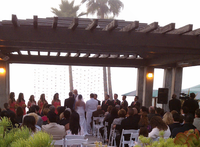Beautiful Sunset Setting For The Ceremony