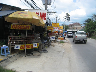 Buying Gasoline on Samui