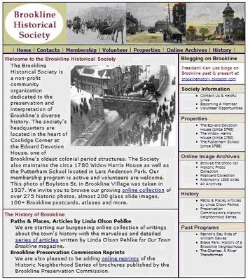 Brookline Historical Society Web Site