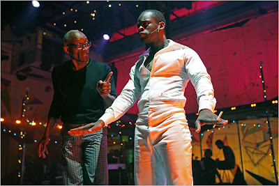 Sahr Ngaujah (who plays Fela) and director and choreographer Bill T. Jones