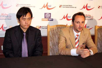 Bu Xiangzhi and Veselin Topalov