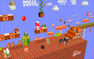 The Girl Gamer: Epic 8-Bit Art: 3D Super Mario Bros  3 World 1 Map