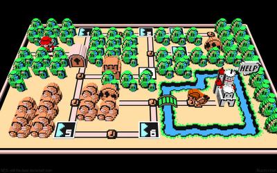 The Girl Gamer Epic 8 Bit Art 3d Super Mario Bros 3 World 1 Map