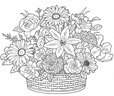 Glass painting flower basket here is the pattern for download