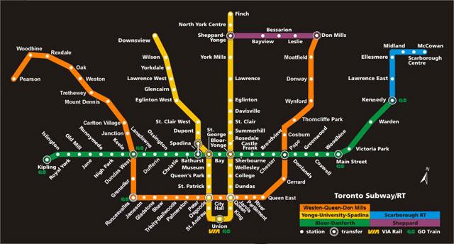 Toronto Dream Subway Map.December 2011 Kelly J Rose