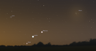 Page F30: All five naked-eye planets visible now: Mercury ...