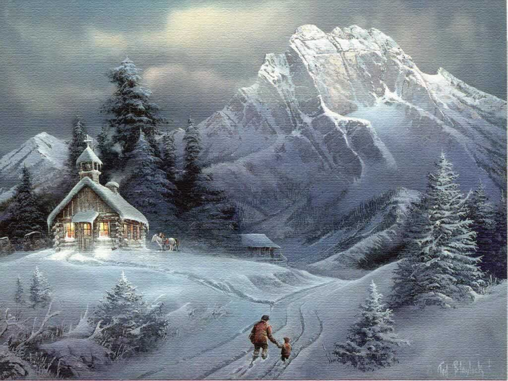 Free christmas desktop wallpaper june 2010 - Christmas nature wallpaper ...