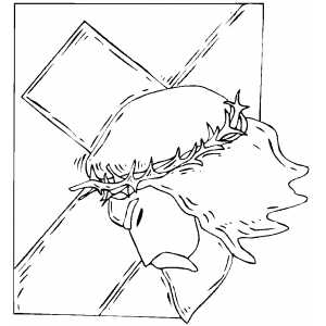 Christmas cross coloring pages xmas jesus cross fantasy for Coloring pages of jesus on the cross