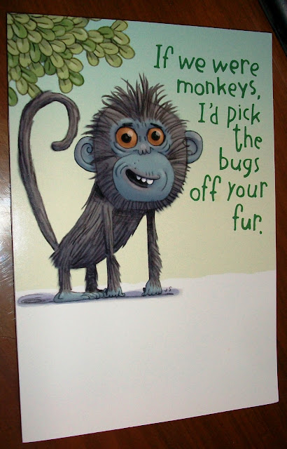 monkey card cover