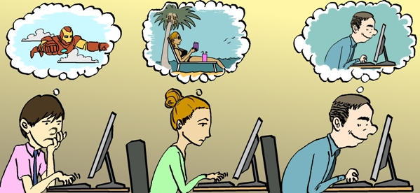 Day Dreaming Cartoons and Comics - funny pictures from ... |Daydreaming Cartoon