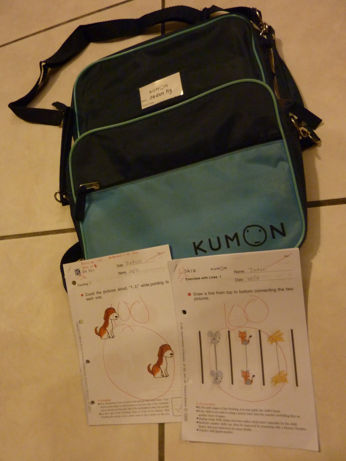 Treasure Memories Jaden 1st Day In Kumon