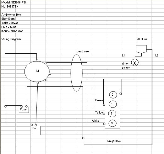 Edmat: Electric Fan wiring diagram