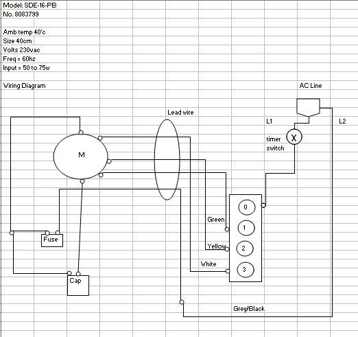 Edmat: Electric Fan wiring diagram