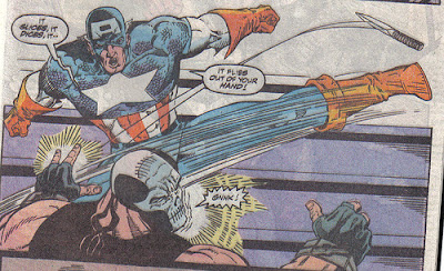 When Captain America burns you, you stay burnt.  It's like getting zinged by your mom, it stings for a long while.
