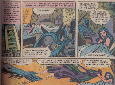 Huh.  Batman's ears seem big in that second panel.  Odd.