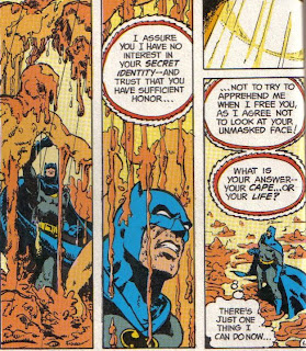Simonson doesn't draw as good of a smiling Batman as Alan Davis, but close.