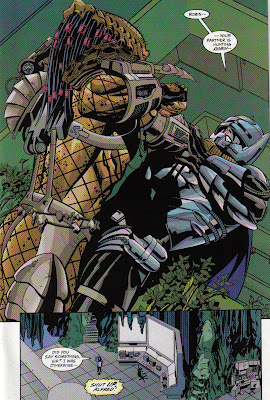This is at least the third time Batman's worn the anti-Predator armor, so that's pretty much in the regular rotation.