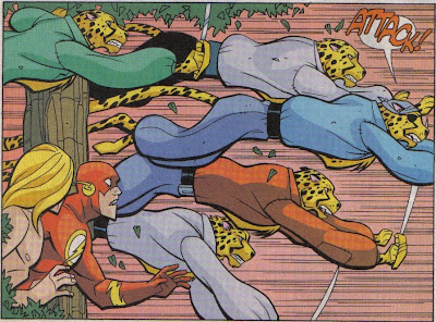 Wait, do cheetahs usually attack apes, or am I just thinking of old Tarzan comics?